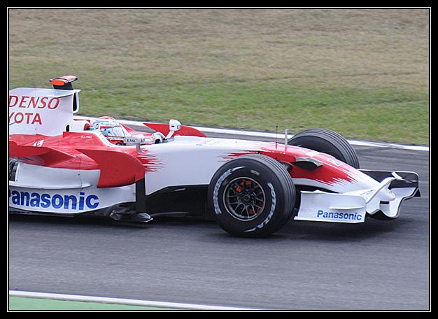 Formel 1 glühende Bremsen