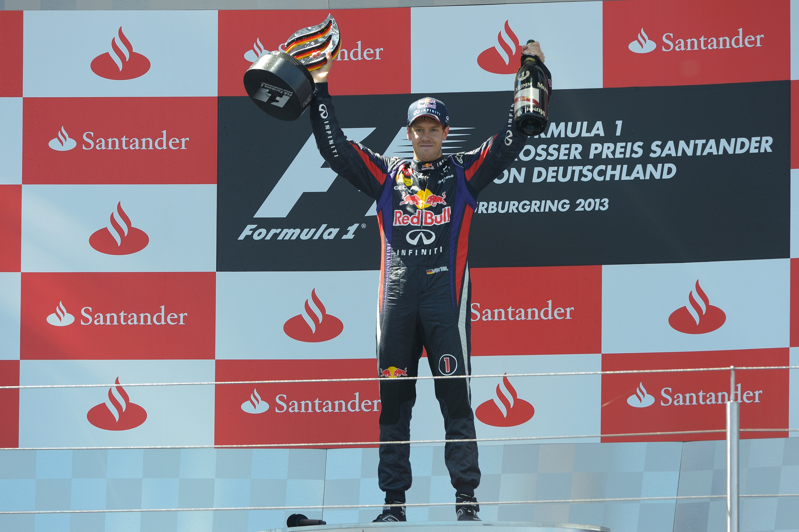 Formel1 Nürburgring Sieger 2013 Sebastian Vettel