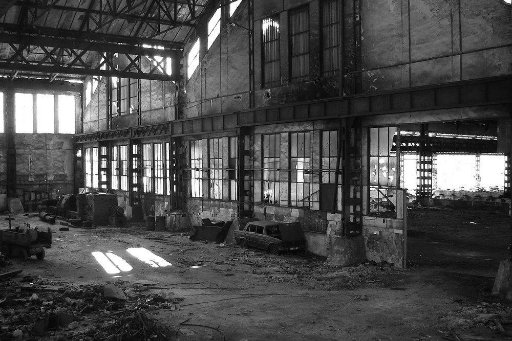 Former steel mills bays; Asturias - Northern Spain