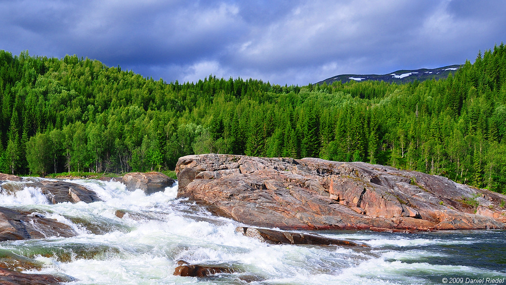Formofossen stolon, North-Trøndelag, river Sanddøla, Grong municipality