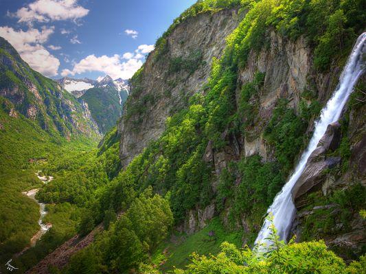 Foroglio Wasserfall