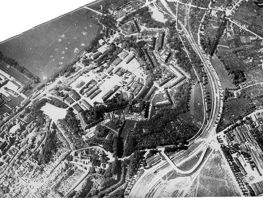 Fort von Verdun Fotografie aus dem Fesselballon Juni 1916