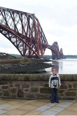 Forth Railway Bidge über den Firth of Forth in Edinburgh