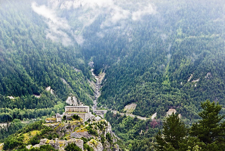 Fortress in mountains