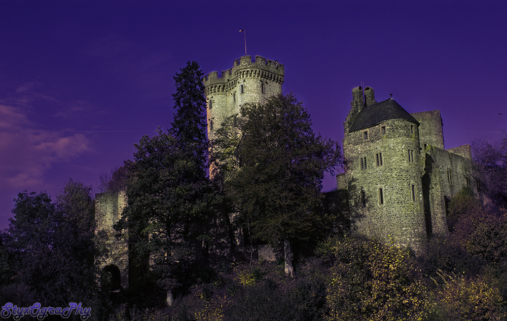 Fortress of fear at dusk