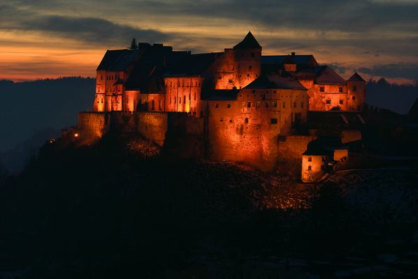 fortress on fire - Burghausen