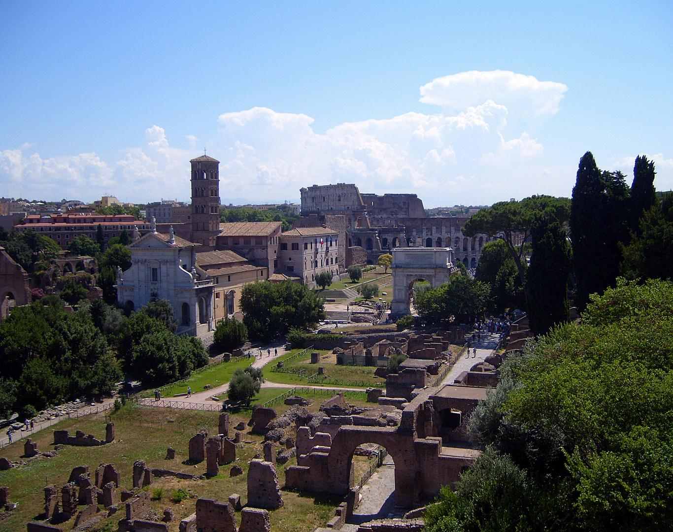 Forum Romanum vom Palatinhügel