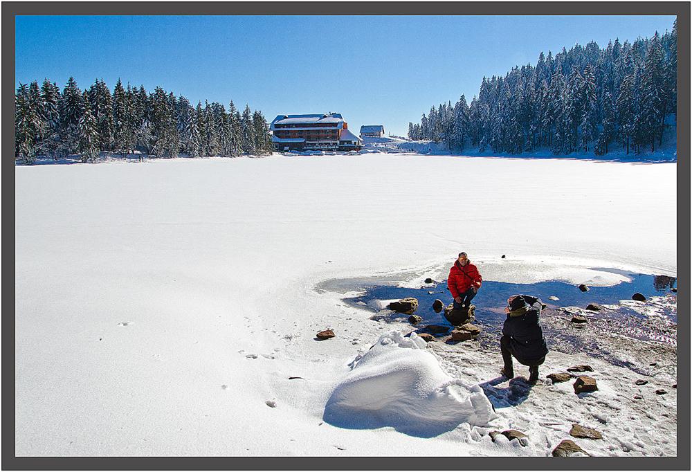 Foto am Mummelsee, Mummelsee im März