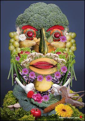 Foto-Composing mit Gemüse