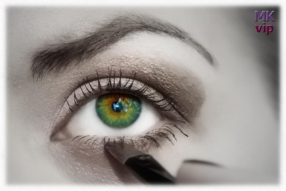 Foto-Make-up bei einem Outdoor-Shooting...