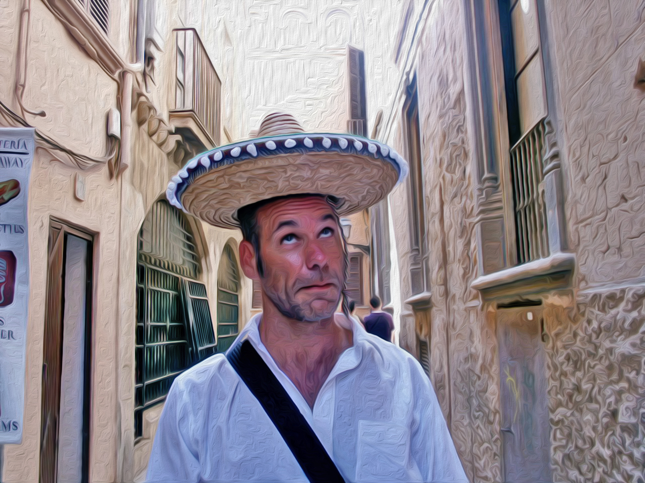 Foto nachmalen lassen - Sombrero
