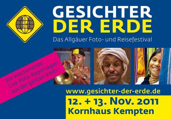 """Foto- und Reisefestival """"Gesichter der Erde"""" in Kempten im Kornhaus"""