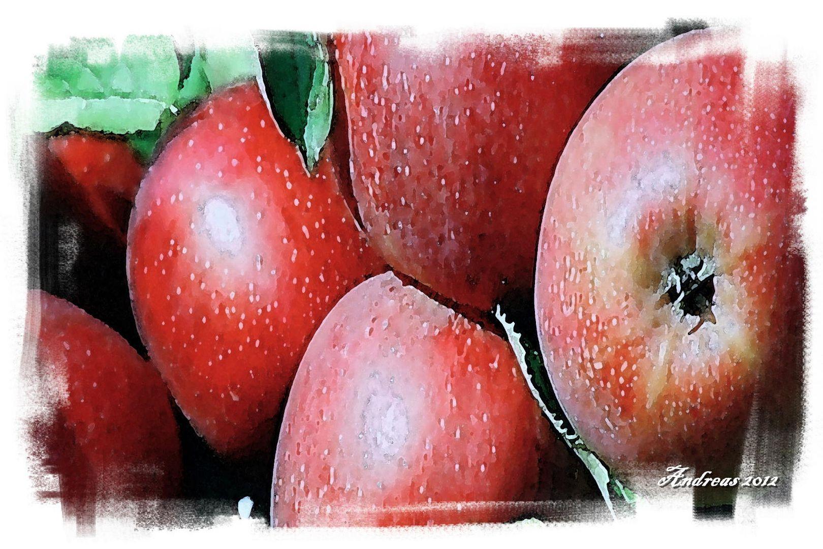 """Fotoaquarell """"Apfel"""""""
