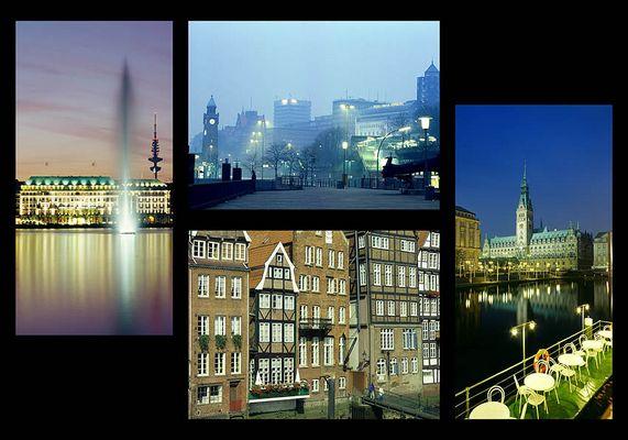 Fotocollage Hamburg Größe 70 x 100 cm zu Gunsten UNICEF