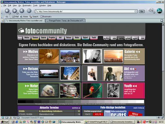 Fotocommunity vor 10 Jahren