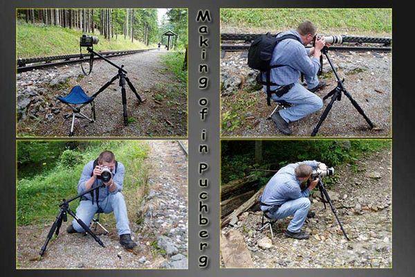 Fotograf bei der Arbeit
