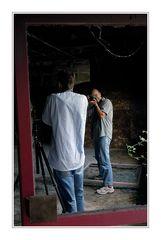 Fotograf fotografiert Fotografen beim Fotografieren eines Fotografen