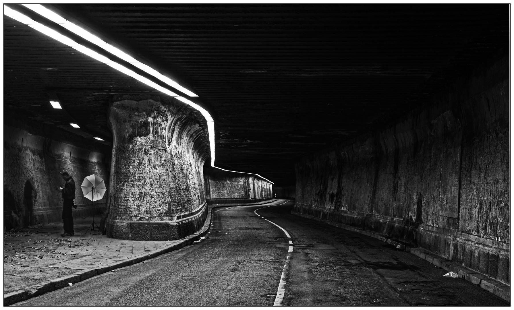 Fotograf im Matena-Tunnel