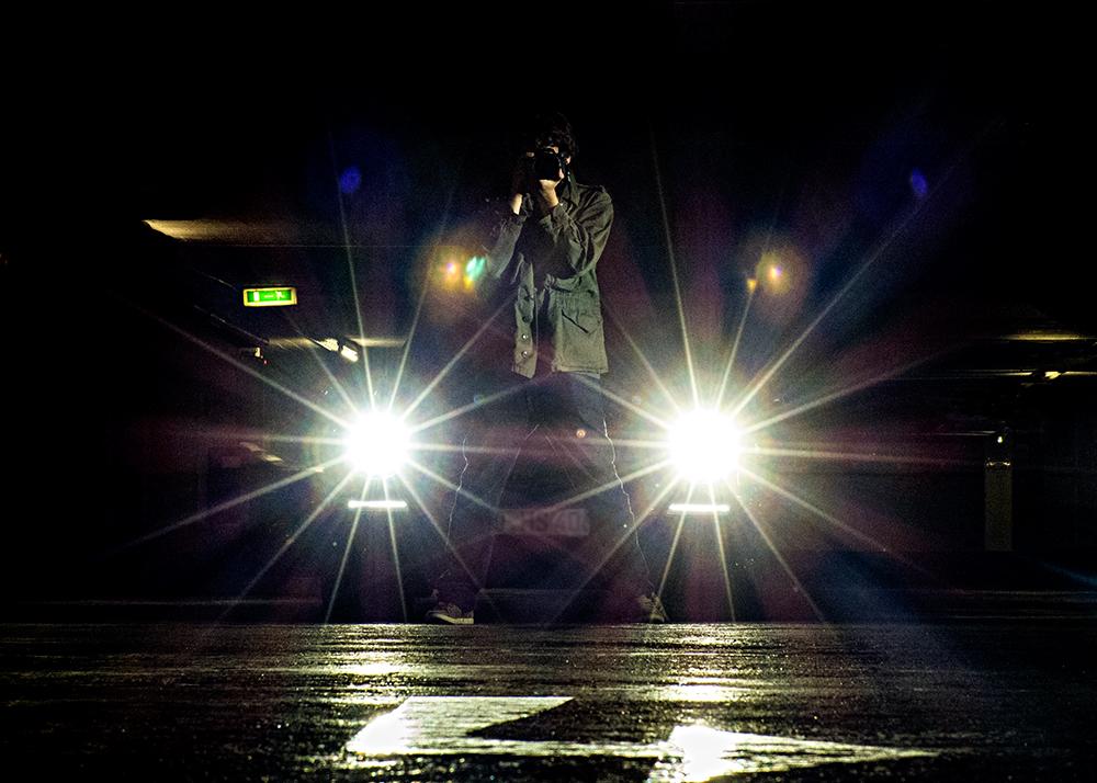 Fotograf im Rampenlicht
