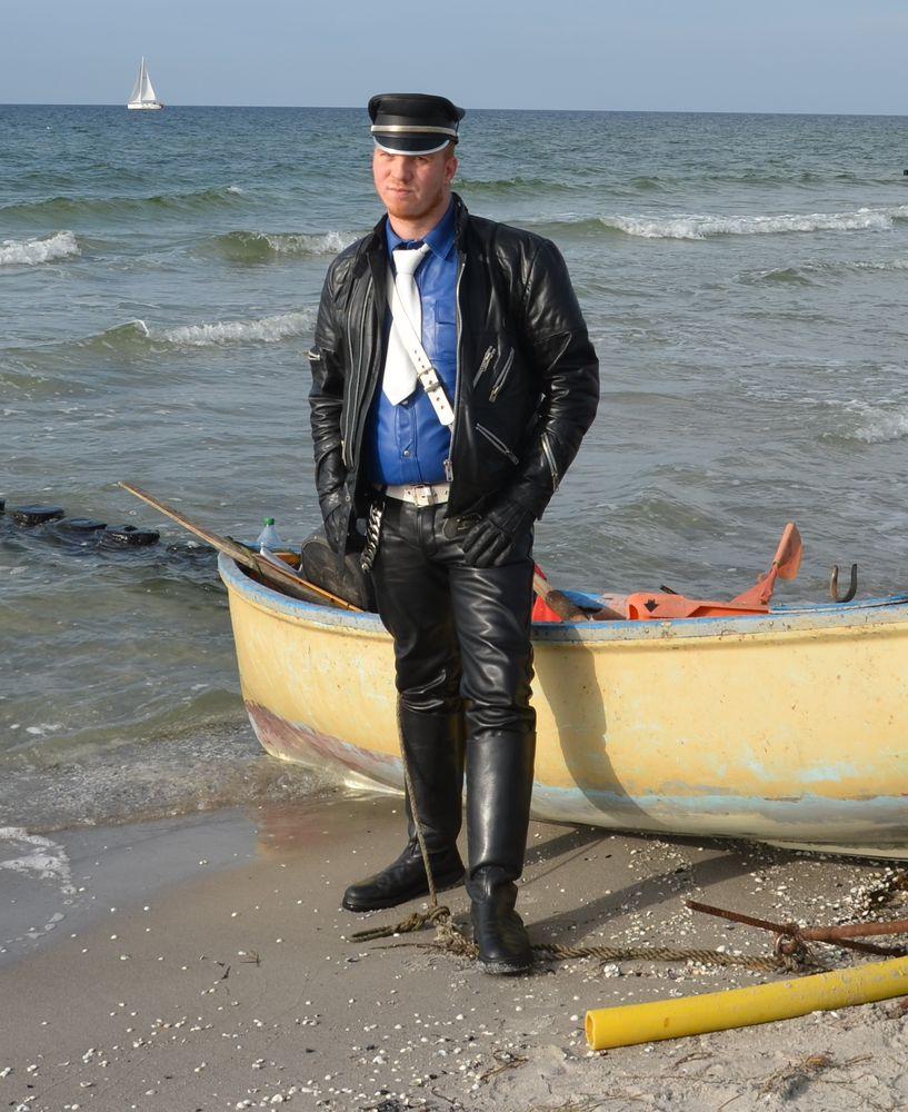 Fotograf Robert Ott mit Freund Daniel ( Insel Hiddensee )