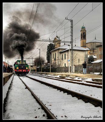fotografando il treno