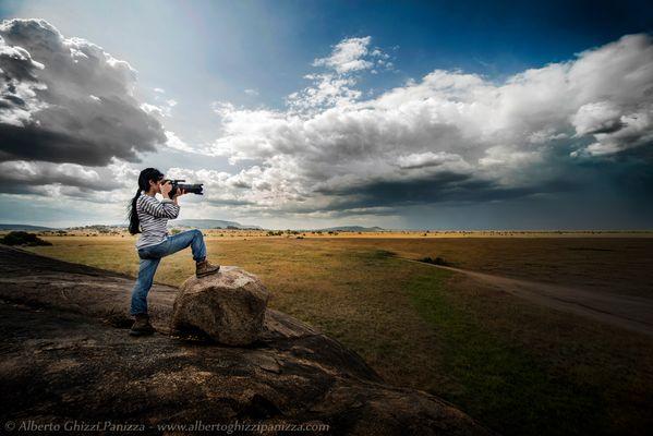 Fotografando le distese del Serengeti