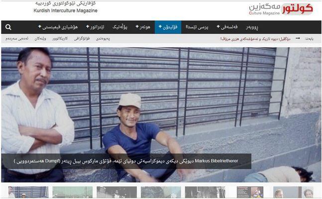 """Fotografie """"Dumpf"""" in einer Kurdischen (Irak) Kulturzeitschrift."""