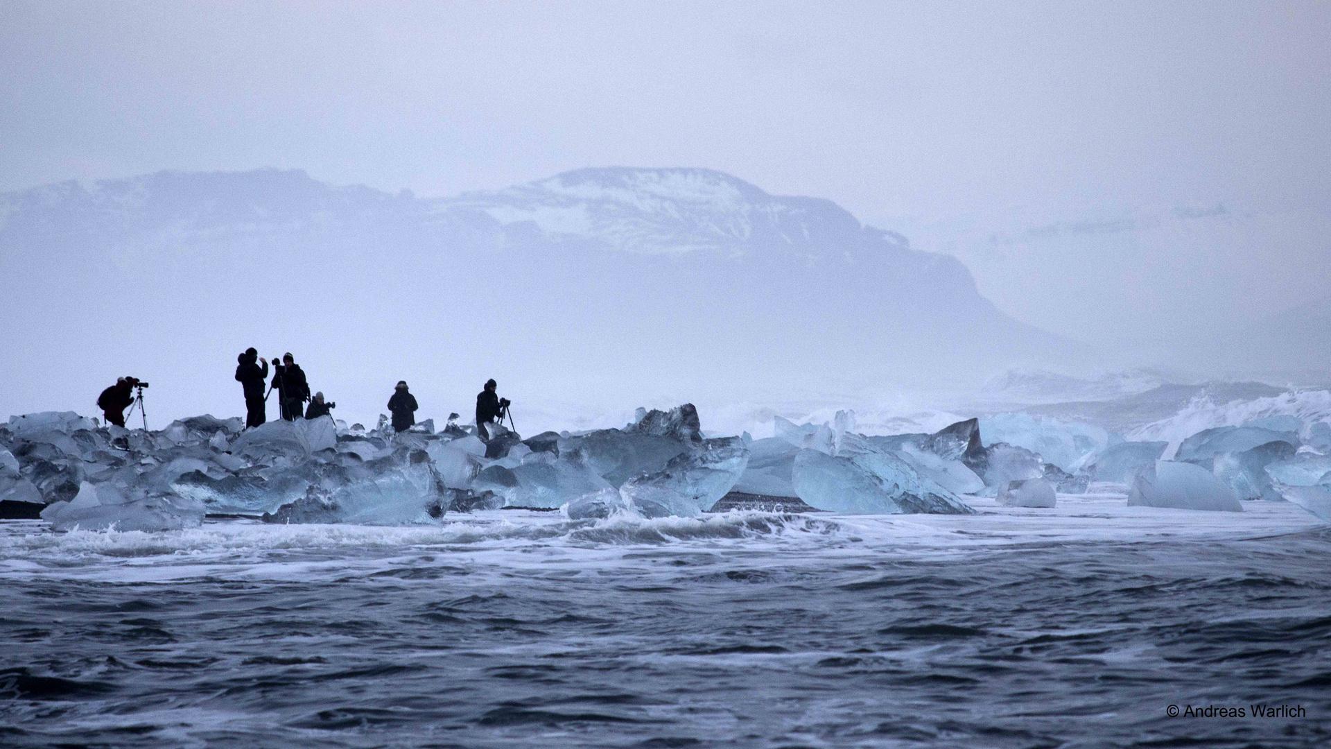 Fotografieren im Eis
