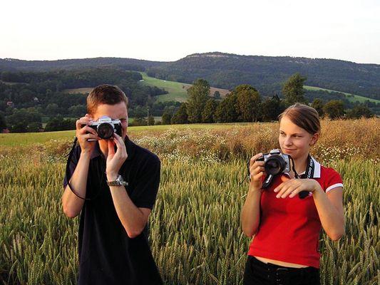 Fotografieren und fotografiert werden!