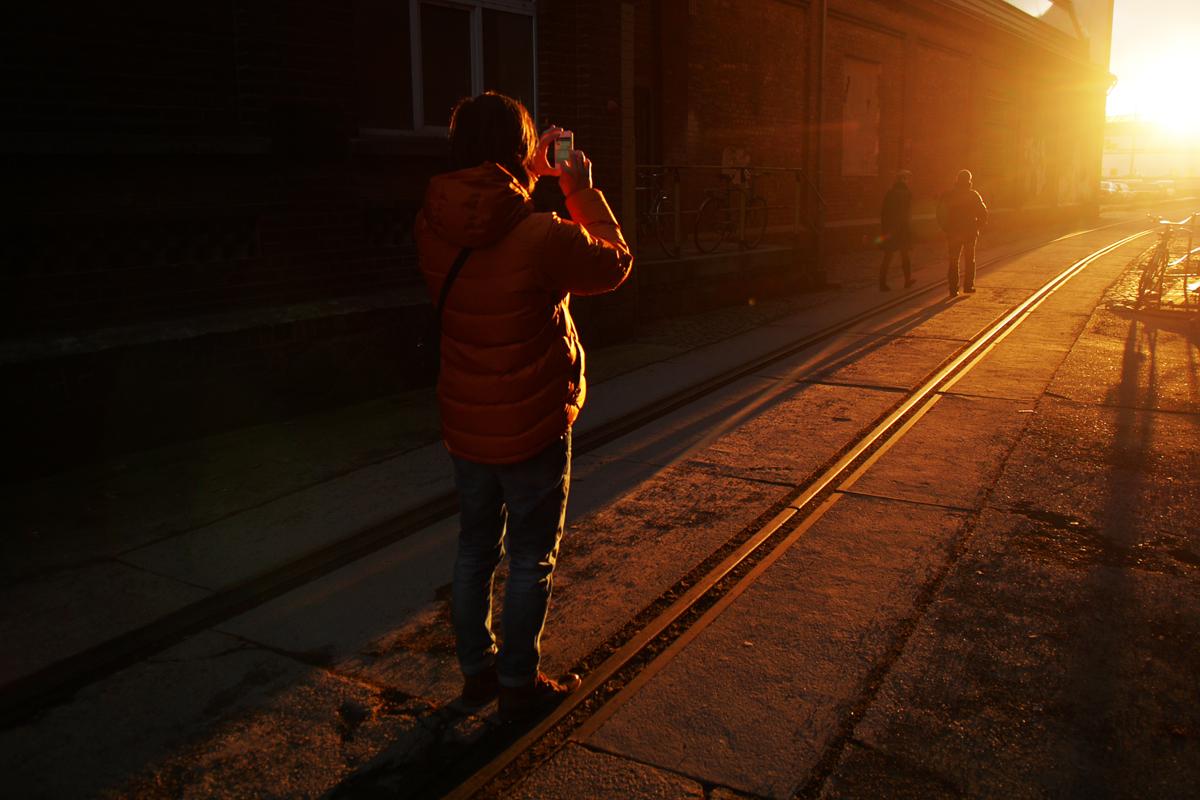 Fotografin im Rampenlicht