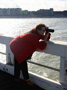 Fotografin in Aktion....