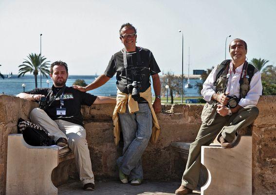 Fotógrafos bajo el sol de Mallorca