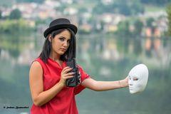 fotogrando una maschera . . . .