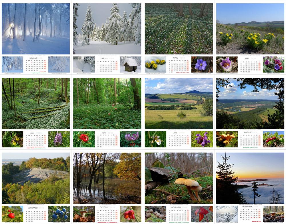 Fotokalender Thüringer Landschaften 2008