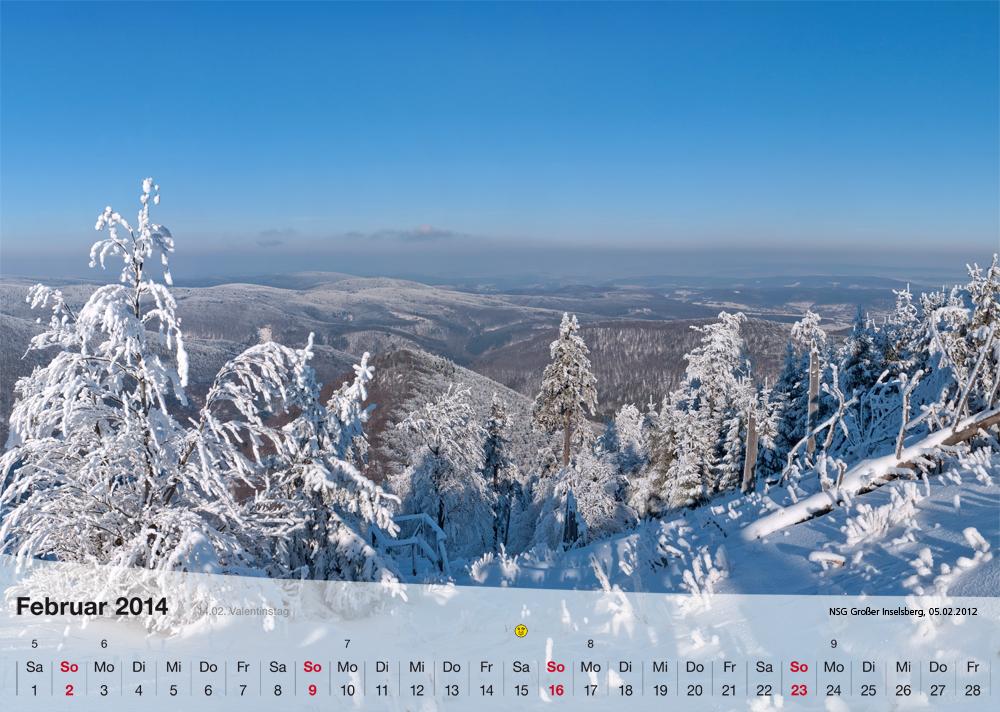 Fotokalender - Thüringer Landschaften - Februar 2014
