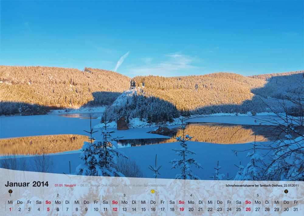 Fotokalender - Thüringer Landschaften - Januar 2014