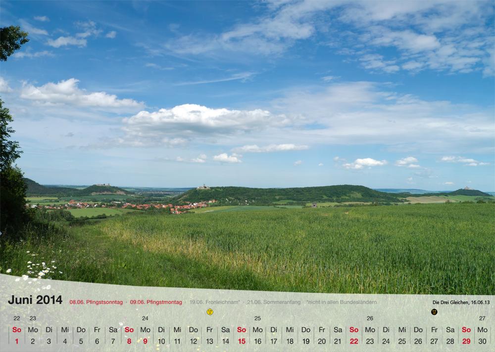 Fotokalender - Thüringer Landschaften - Juni 2014