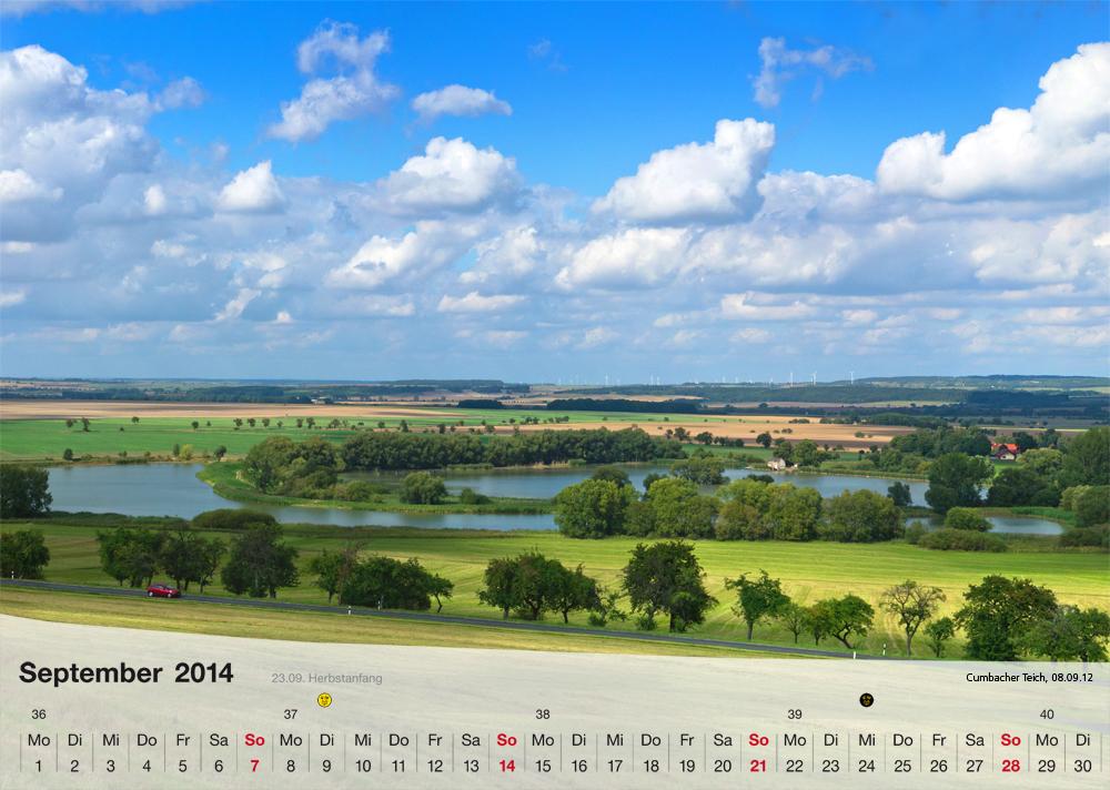 Fotokalender - Thüringer Landschaften - September 2014