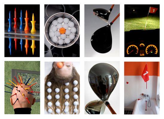 """Fotoprojekt zum Thema """"Golf"""" von Nathalie Carton und Thomas Cep de Vigne"""