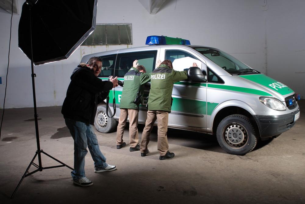 Fotoshoot der Polizei