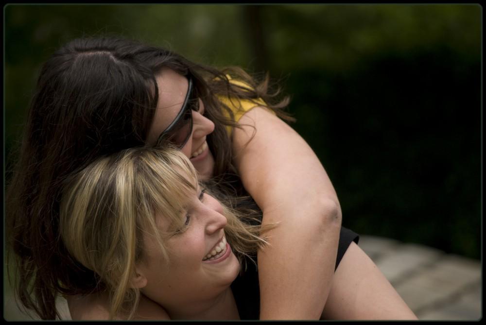 Fotoshooting im Luisenpark - Julia & Livia