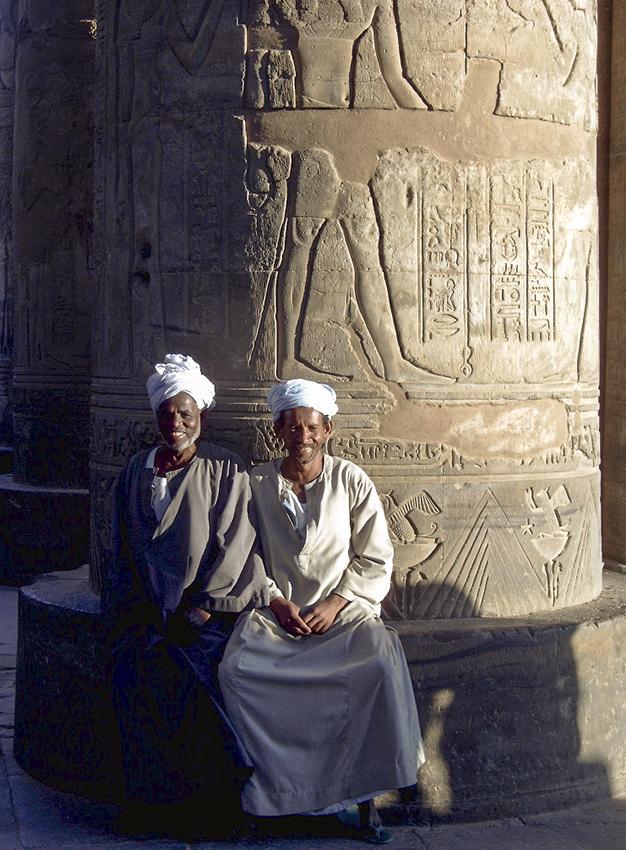 Fotoshooting im Tempel von Karnak