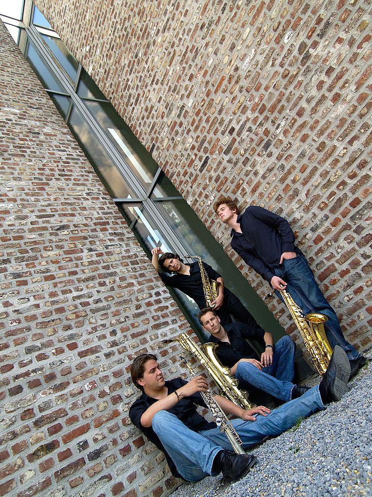 Fotoshooting mit dem Signum Saxophon Quartett VIII