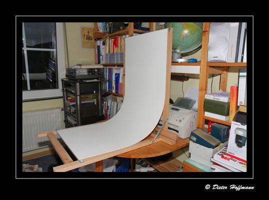 Fototisch selbstgebaut mit 4 Teilen (zugeschaut und mitgebaut .....)