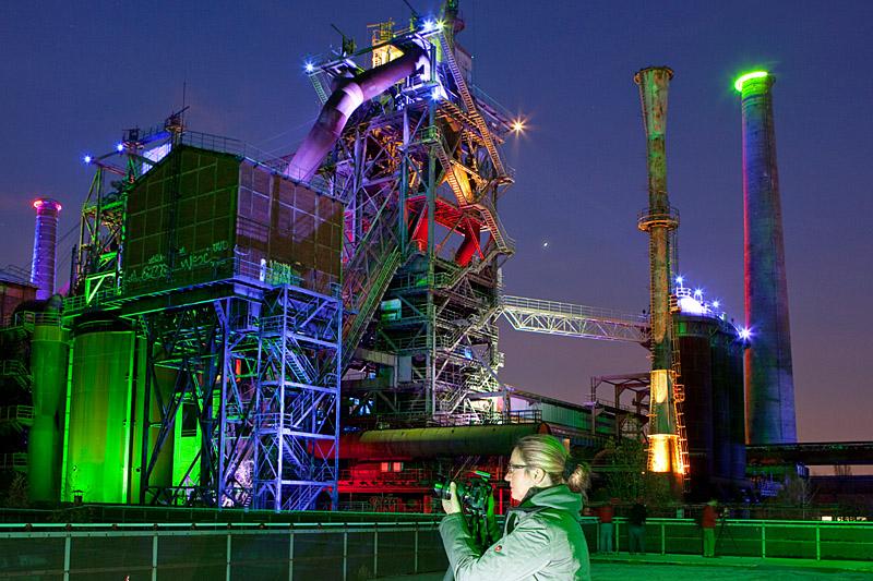 Fototour Landschaftspark Duisburg - Nachtfotografie in der Industriekulisse