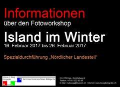 "Fotoworkshop ""Island im Winter"" 2017"