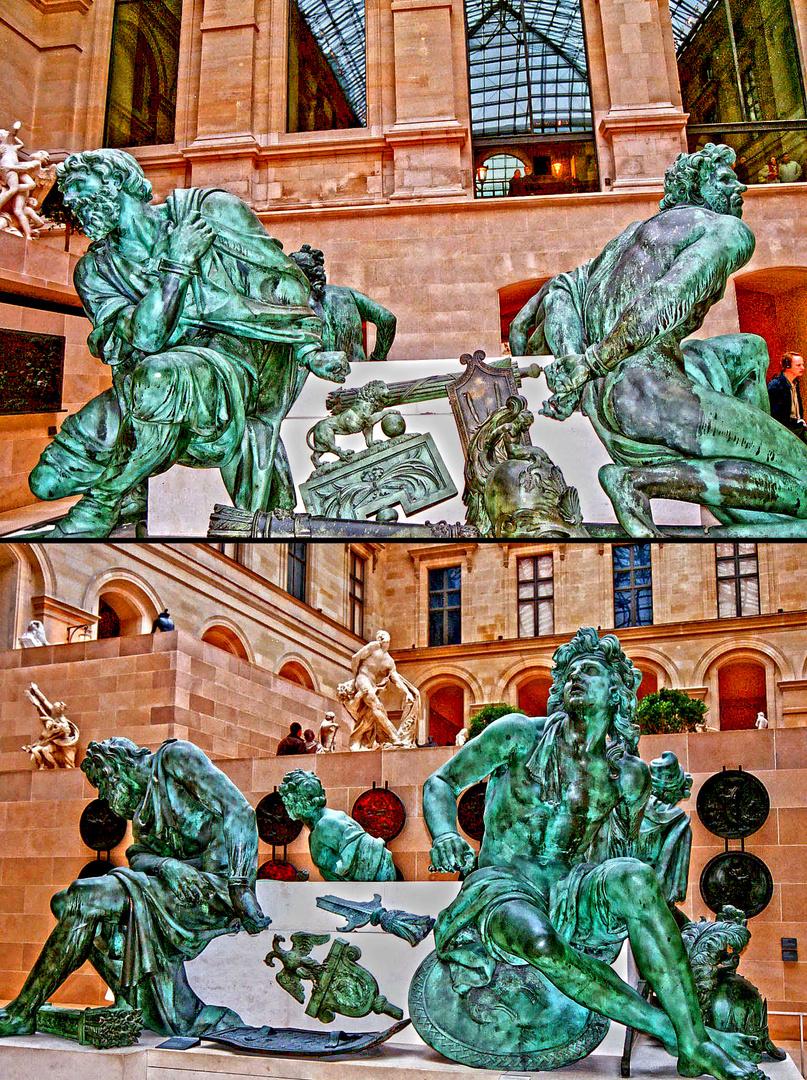 Four Captives Sculpture, 1686, Musée du Louvre, Paris