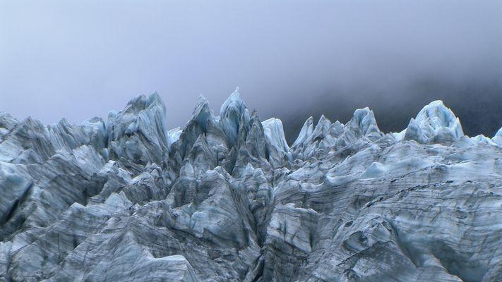 Fox-Glacier bei schlechtem Wetter