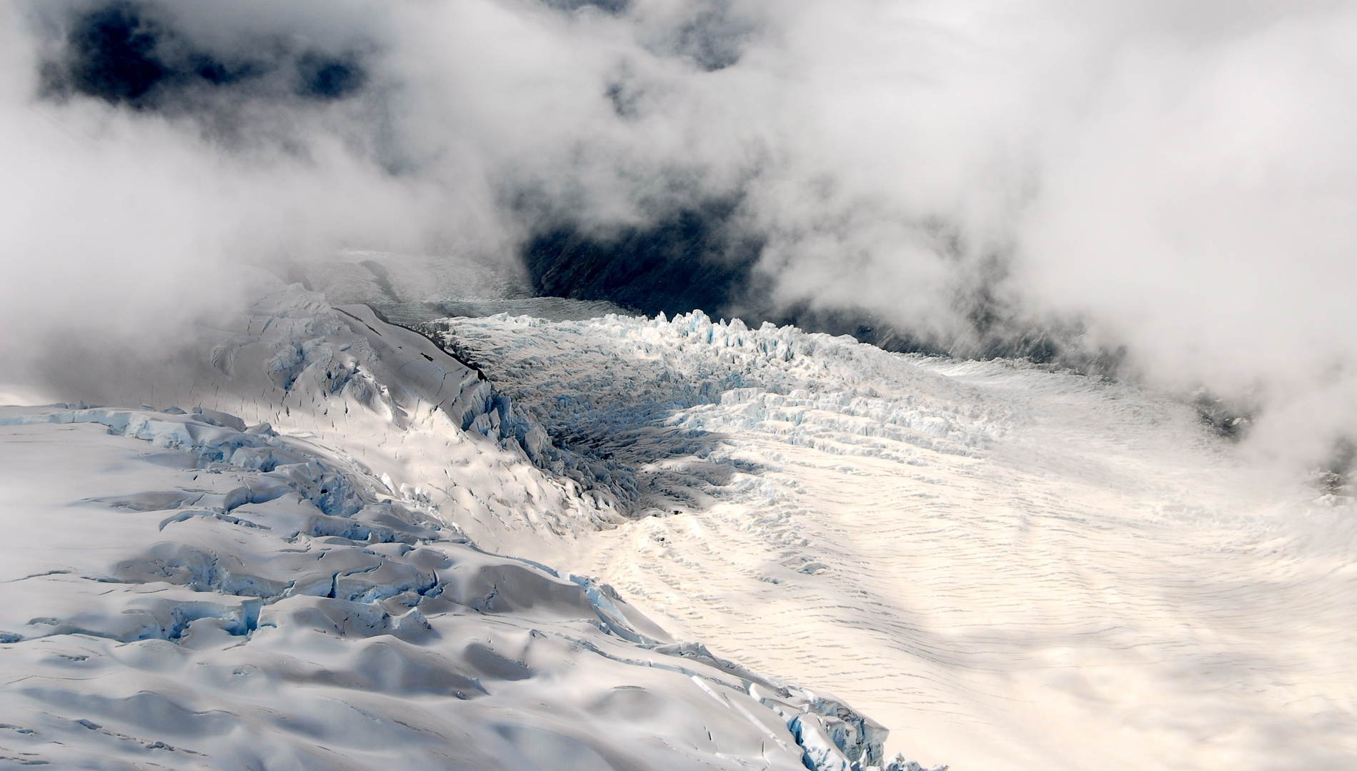 Fox Glacier from above