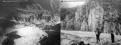 Fox Gletscher am Beginn des 20.Jahrhundert